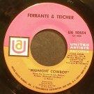 FERRANTE & TEICHER~Midnight Cowboy~United Artists 50554 (OST)  45