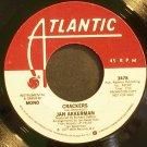 JAN AKKERMAN~Crackers~Atlantic 3478 (Guitar) Promo VG+ 45