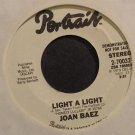 JOAN BAEZ~Light a Light~Portrait 70032 Promo Rare M- 45