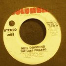 NEIL DIAMOND~The Last Picasso~Columbia 10138 (Soft Rock) Promo VG+ 45