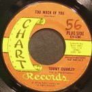TOMMY CRAWLEY~Too Much of You~Chart CH05209 (Saxophone) Promo Rare 45