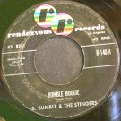 B. BUMBLE & THE STINGERS~Bumble Boogie~Rendezvous 140 (Instrumental Rock)  45