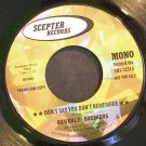 BEVERLY BREMERS~Don't Say You Don't Remember~Scepter 12315 (Soft Rock) Promo VG++ 45