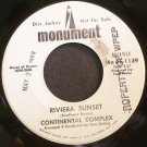 CONTINENTAL COMPLEX~Riviera Sunset~Monument 45-1139 (Easy Listening) VG++ 45