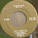 NORMAN BROOKS~Hello Sunshine~Zodiac 45 Z-101 (Jazz Vocals)  45