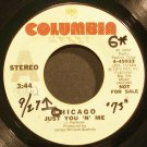CHICAGO~Just You 'N' Me~Columbia 45933 (Classic Rock) Promo 45