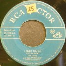 DON CORNELL~I Need You So~RCA Victor 3884  45