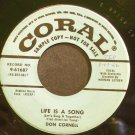 DON CORNELL~Life is a Song~Coral 61687 Promo VG+ 45