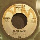 JOAN BAEZ~Diamonds and Rust~A&M 1737-S VG++ 45