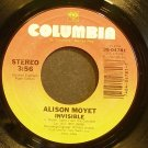ALISON MOYET~Invisible~Columbia 04781 (Synth-Pop) VG+ 45