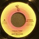 DON WILLIAMS~Tulsa Time~ABC 12425 VG+ 45