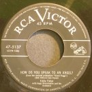 EDDIE FISHER~How Do You Speak to an Angel?~RCA Victor 5137  45