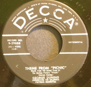 GEORGE DUNING & MORRIS STOLOFF~Theme From Picnic~Decca 29888 (OST)  45