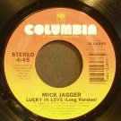 MICK JAGGER~Lucky in Love~Columbia 04893 (Soft Rock) VG+ 45