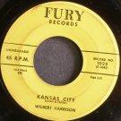 WILBERT HARRISON~Kansas City~Fury 1023 (Rock & Roll)  45