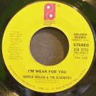 HAROLD MELVIN & THE BLUE NOTES~I'm Weak for You~Philadelphia Int'l 3755 (Soul) VG+ 45