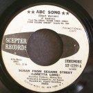 LORETTA LONG AKA SUSAN ROBINSON~ABC Song~Scepter 12291 (Children) Promo 45