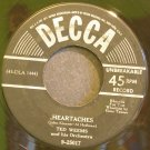 TED WEEMS~Heartaches~Decca 25017 (Big Band Swing) VG+ 45