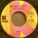 CHER~The Way of Love~Kapp 2158 VG+ 45