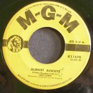 JONI JAMES~Almost Always~MGM K11470  45