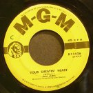 JONI JAMES~Your Cheatin' Heart~MGM K11426  45