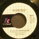 KC & THE SUNSHINE BAND~Get Down Tonight~T.K. 1009 (Disco) 1st Rare VG+ 45