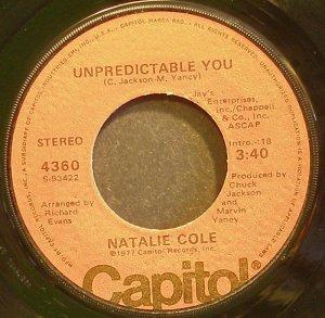 NATALIE COLE~Unpredictable You~Capitol 4360 (Soul) VG+ 45