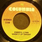 CHERYL LYNN~Shake it Up Tonight~Columbia 02102 (Funk)  45