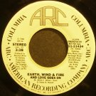 EARTH, WIND & FIRE~And Love Goes on~ARC 11434 (Soul) Promo 45