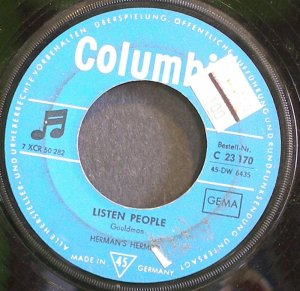 HERMAN'S HERMITS~Listen People~EMI Columbia 23 170 (British Invasion) Germany 45