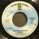 LINDSEY BUCKINGHAM~Trouble~Asylum 47223 (New Wave) VG+ 45