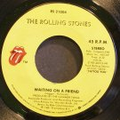THE ROLLING STONES~Waiting on a Friend~Rolling Stones 21004 (Classic Rock) 1st VG++ 45