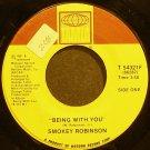 SMOKEY ROBINSON~Being with You~Tamla 54321F (Soul)  45