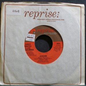 NANCY SINATRA & LEE HAZELWOOD~Jackson~Reprise 0595 (Jazz Vocals) VG+ 45