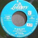 VIC SCHOEN~Marion~Liberty 55109 (Big Band Swing) VG+ 45