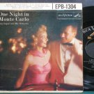GUY LUPAR & HIS ORCHESTRA~One Night in Monte Carlo~RCA Victor 1304 (Easy Listening) VG+ 45 EP