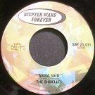 THE SHIRELLES~Mama Said~Scepter/Wand Forever 21,071 (Soul) Rare VG+ HEAR 45