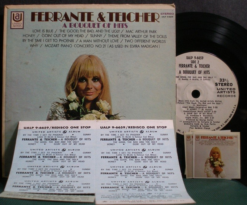 "FERRANTE & TEICHER~A Bouquet of Hits~United Artists 9-6659 (Easy Listening)  7"" 33 RPM Mini-LP, EP"
