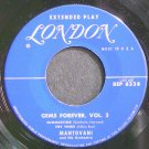 MANTOVANI & HIS ORCHESTRA~Gems Forever, Vol. 3~London 6338 (Easy Listening) VG+ 45 EP