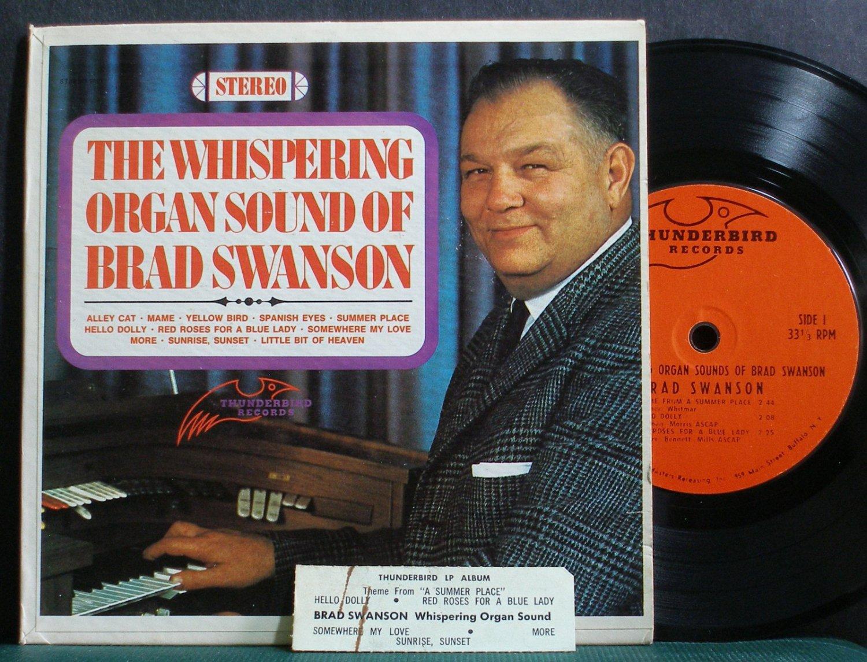 "BRAD SWANSON~The Whispering Organ Sounds Of~Thunderbird 9001 VG+ 7"" 33 RPM Mini LP, EP"