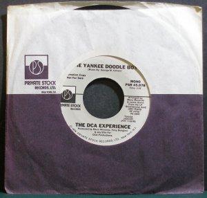 DCA EXPERIENCE~The Yankee Doodle Boy~Private Stock 45,078 (Disco) Mono Promo Rare VG+ 45