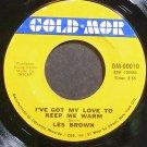 LES BROWN~I've Got My Love to Keep Me Warm~Gold Mor 00010 (Jazz Vocals) VG+ 45