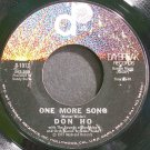 DON HO~One More Song~Daybreak 1013 VG++ 45