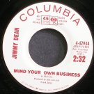 JIMMY DEAN~Mind Your Own Business~Columbia 42934 Promo M- 45