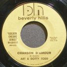 ART & DOTTY TODD~Chanson D'amour~Beverly Hills BH-GE4117 VG++ 45