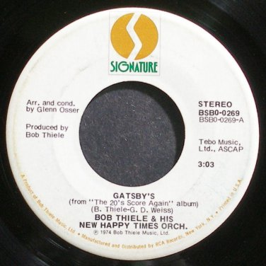 BOB THIELE~Gatsby's~Signature 0269 (Rock) VG++ 45