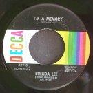 BRENDA LEE~I'm a Memory~Decca 32918 (Rockabilly) VG+ 45