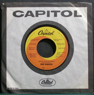 THE KNACK~Good Girls Don't~Capitol 4771 VG+ 45