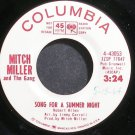 MITCH MILLER~Song for a Summer Night (Promo)~Columbia 43053 (Big Band Swing) Promo 45