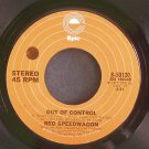 REO SPEEDWAGON~Out of Control~EPIC 50120 (Classic Rock) 1st Rare VG+ 45